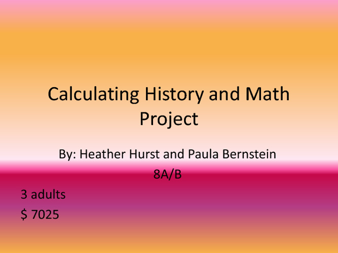 Calculating History and Math proje