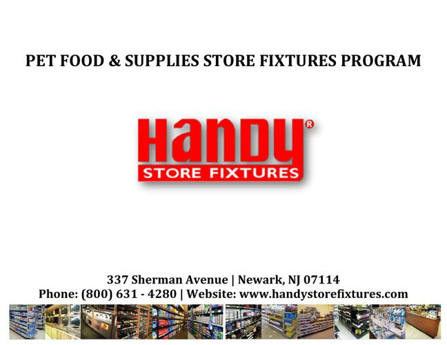 Handy Store Fixtures Pet Supplies Catalog