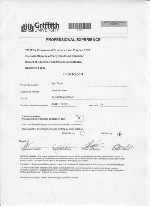 Final Report - Arundel State School