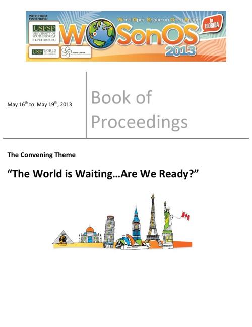 WOSonOS 2013 Book of Proceedings