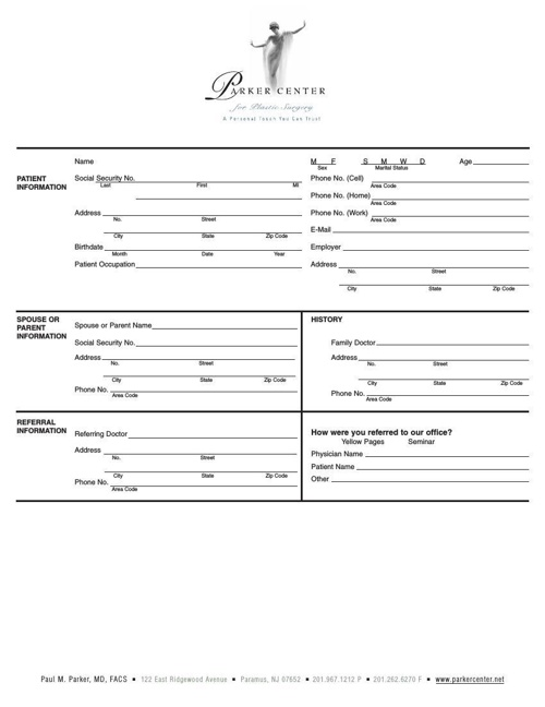 New Patients Packet