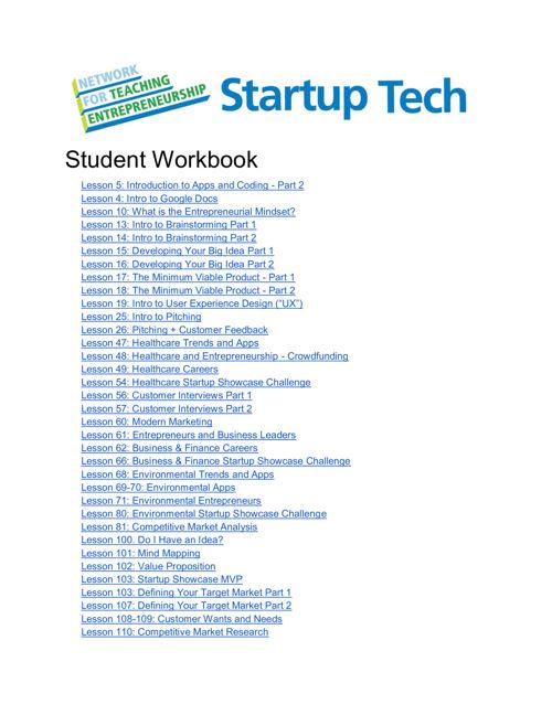 Workbook StartUp