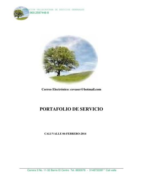 PORTAFOLIO COVASER en pdf