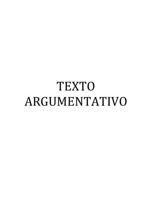 TEXTO ARGUMENTATIVO n