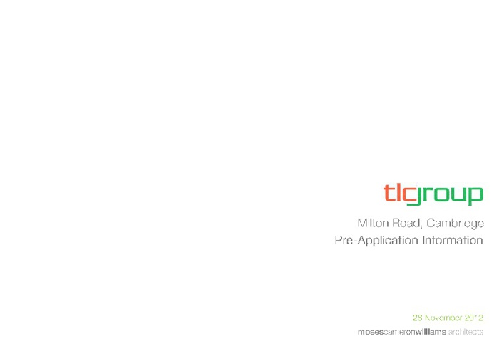 TLC Pre-application Document 28/11/12