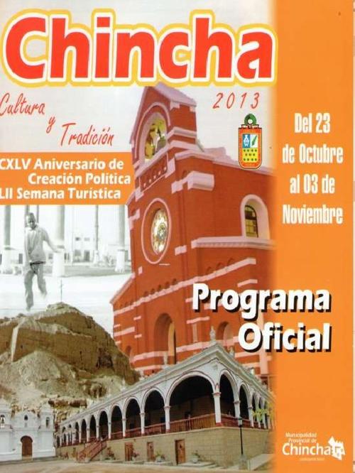 Programa Oficial LII Semana Turística de Chincha