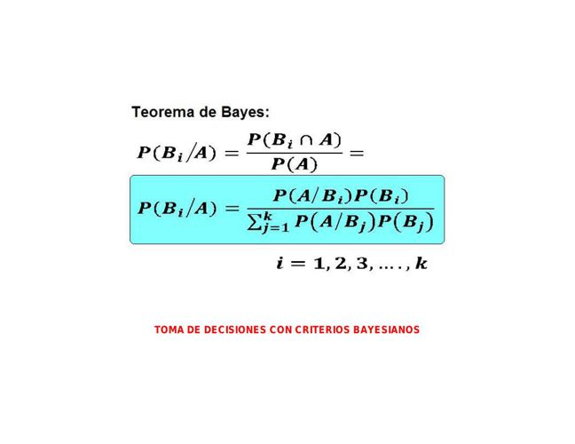 TOMA DECISIONES CON CRITERIOS BAYESIANOS