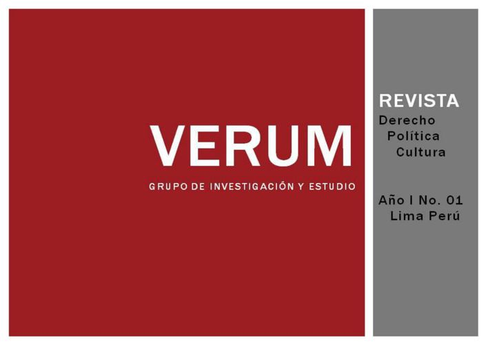 Revista VERUM 1 edicion piloto