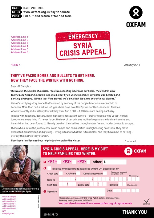 Emergency Syria Crisis Appeal - Donation Form