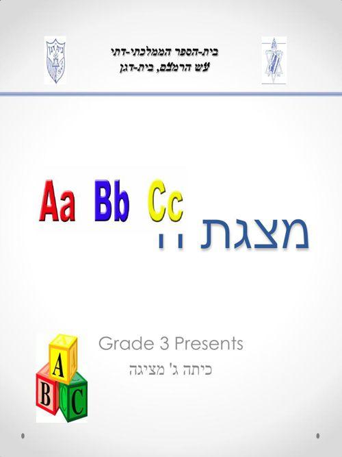 מצגת הABC עבור ספרון דיגיטלי