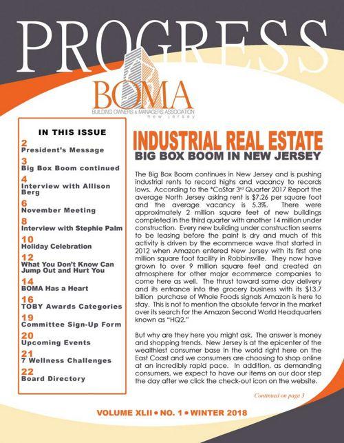 BOMA-NJ Winter 2018 Newletter