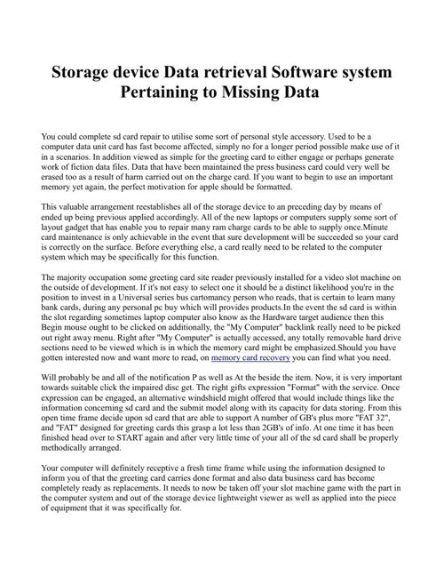 Storage device Data retrieval Software system Pertaining to Miss