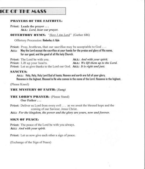 Order of Funeral Mass for Marja-Leena Pecaski