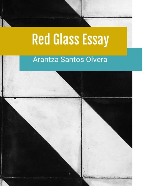 Essay Red Glass