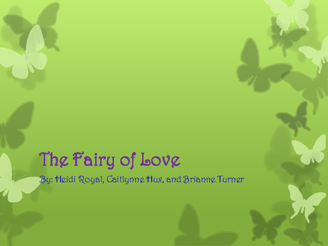 The Fairy of Love