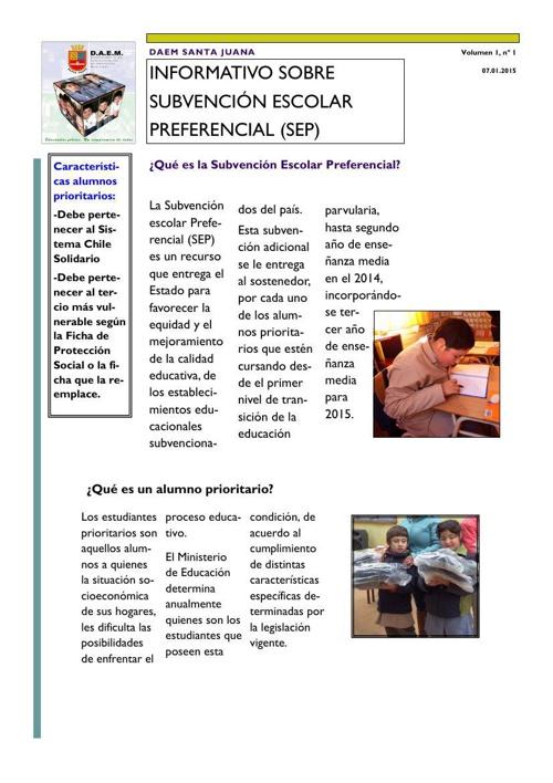 Informativo DAEM Santa Juana N°1