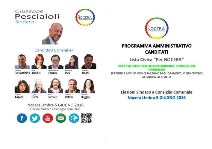 """Lista Civica """"Per NOCERA"""" - Programma Amministrativo"""