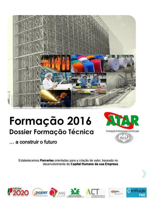 Catálogo Formação 1 º sem 2016 dossier tecnica