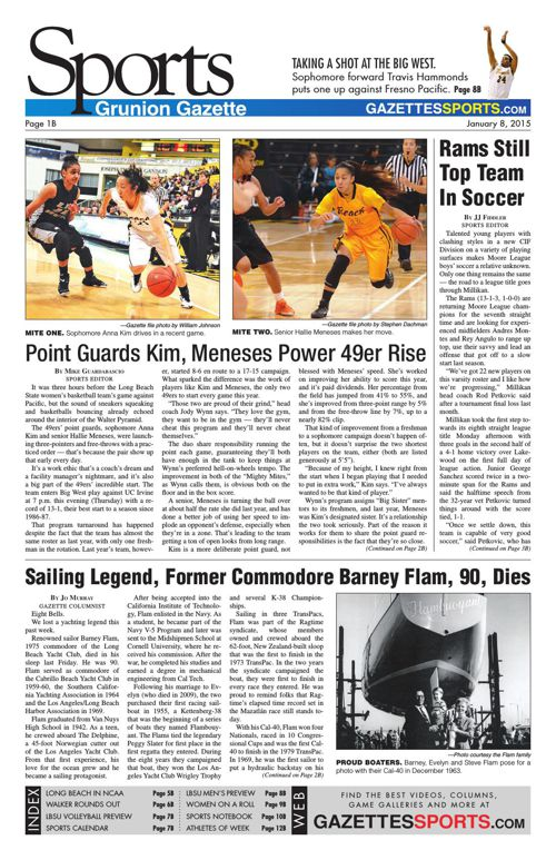 Gazette Sports | January 8, 2015