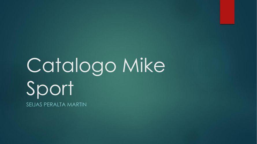 Catalogo Mike Sport