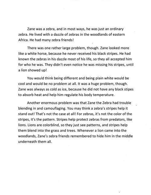 Zane the Zebra