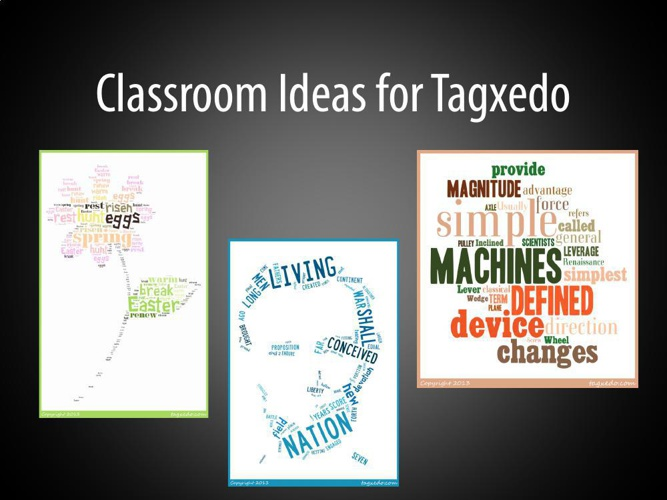 Classroom Ideas for Tagxedo