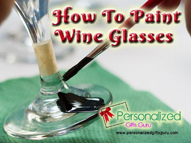 How to Paint On Wine Glass
