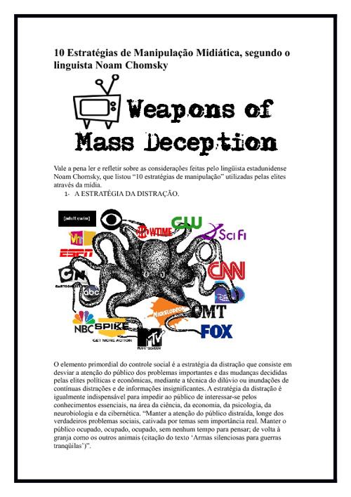 Copy of 10 estratégias de manipulação midiática