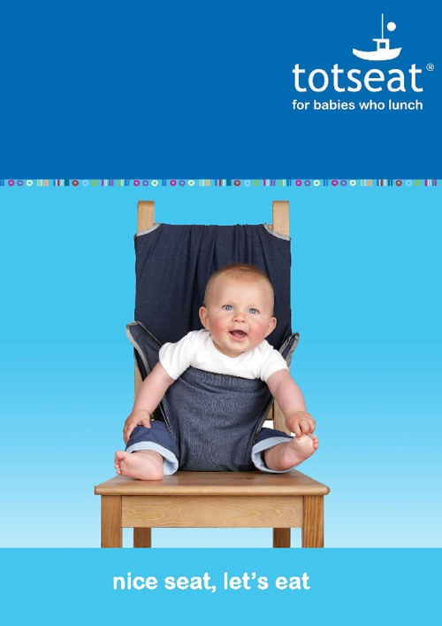 Totseat - the washable, squashable highchair