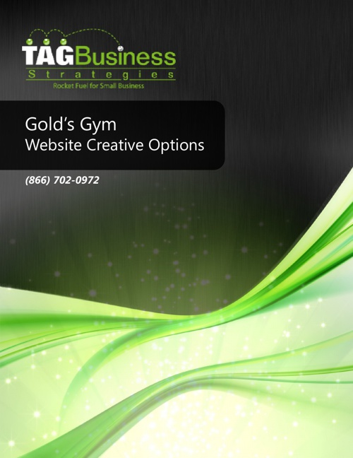 Gold's Gym Web Creative Option
