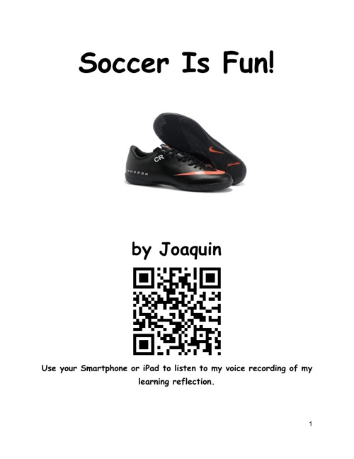 Soccer is fun