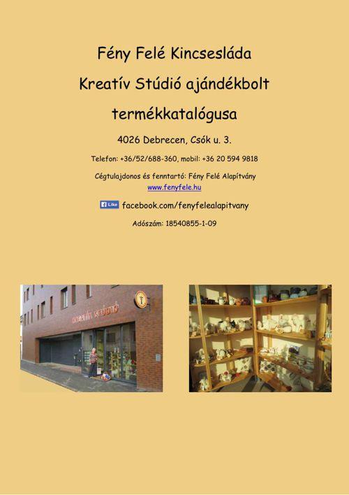Kreatív Stúdió termékkatalógusa 2015
