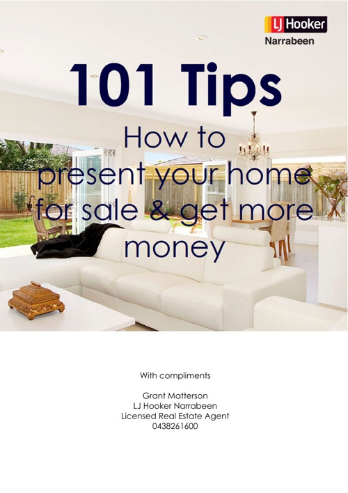 Copy of 101 Tips How to present your property for sale & get mor