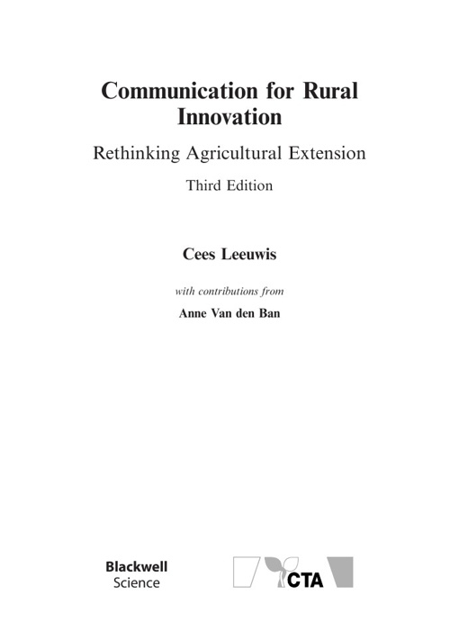 Communication for Rural Innovation