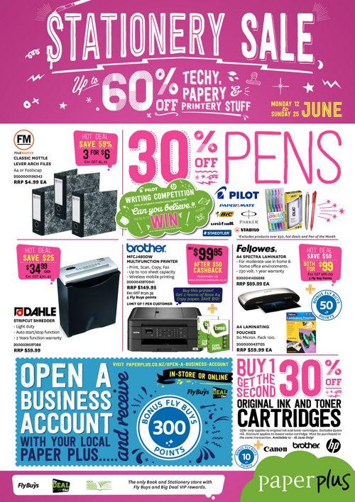 Stationery Sale JUNE flyer