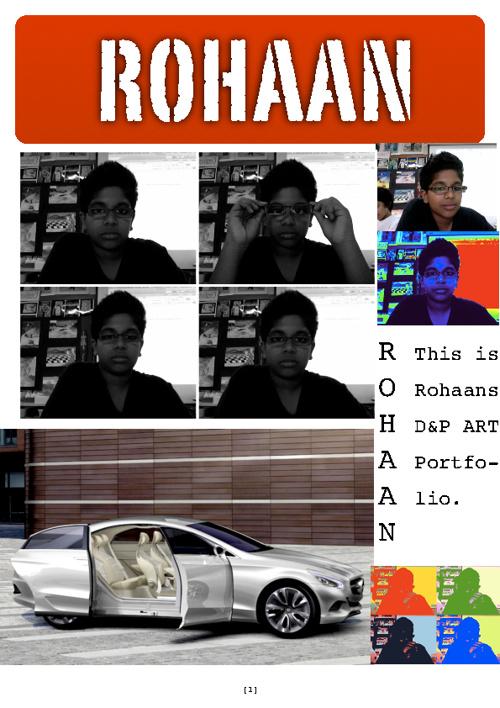 D&P portfolio. By Rohaan Abraham