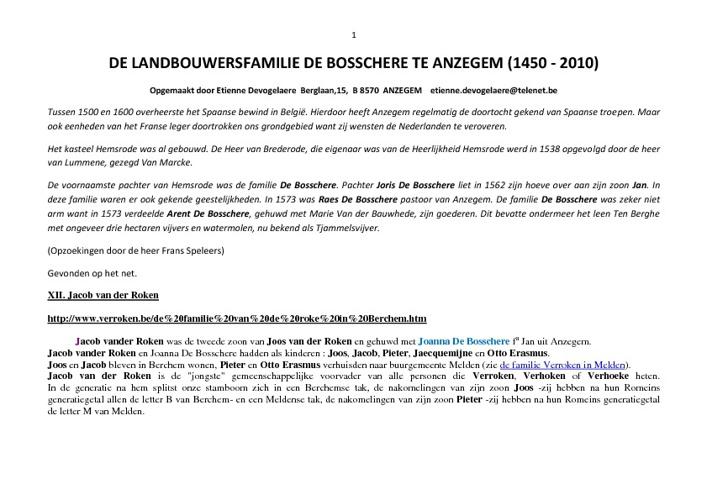 Stamboom De Bosschere