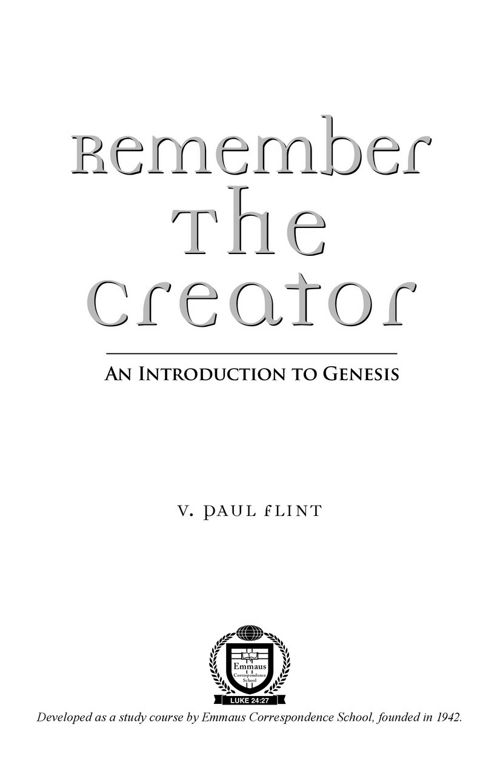Remember the Creator PDF