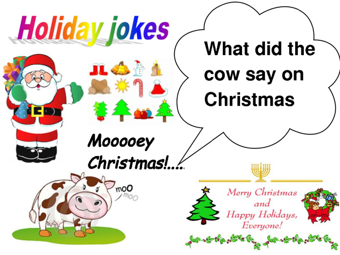 Holiday Jokes Illustrated by Sharin's IT Students