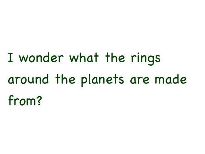 We Wonder...