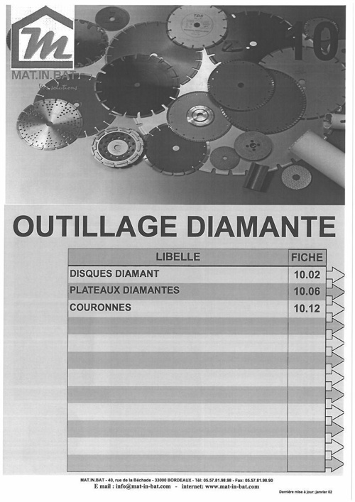 Catalogue Outillage Diamante