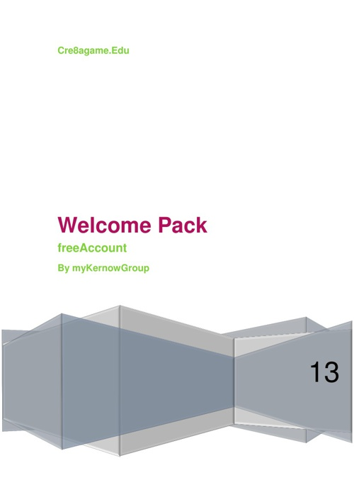 Cre8agame Welcome Pack - freeAccount