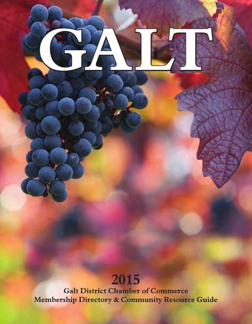 2015 Galt Chamber Business Directory