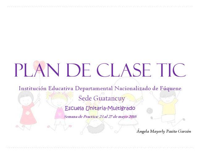 PLAN DE Clase Tic 2