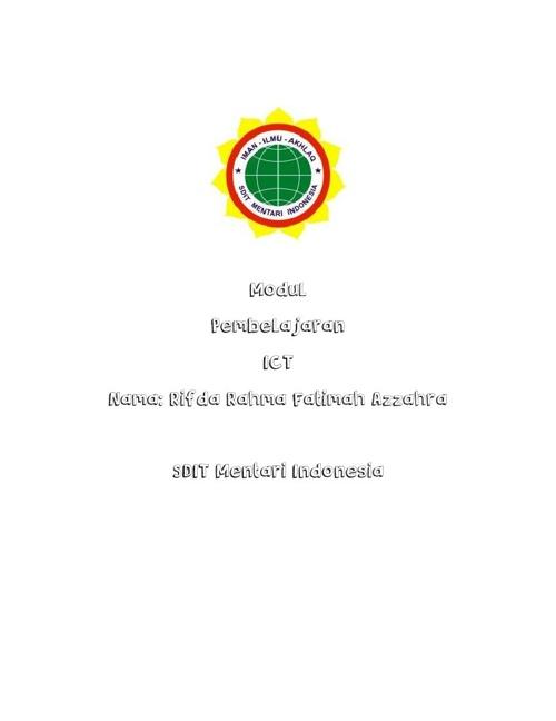 Modul Pembelajaran ICT SDIT Mentari Indonesia by Rifda