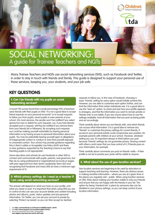 Social-networking for teachers