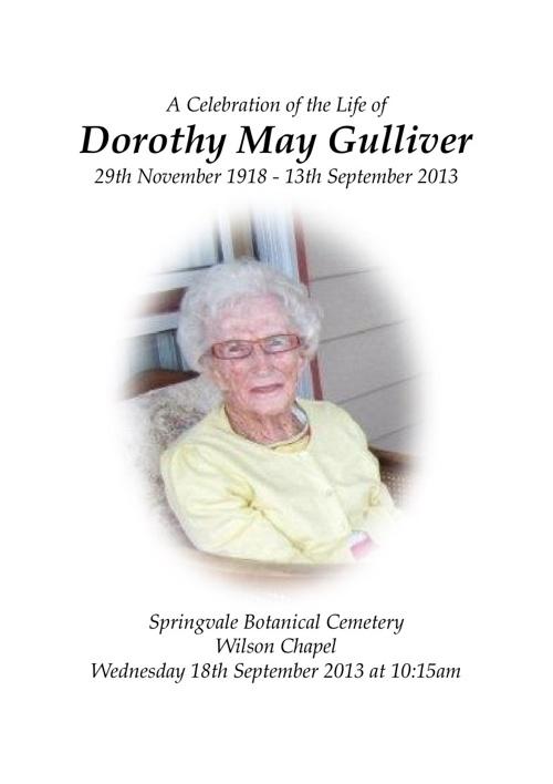 Dorothy May Gulliver
