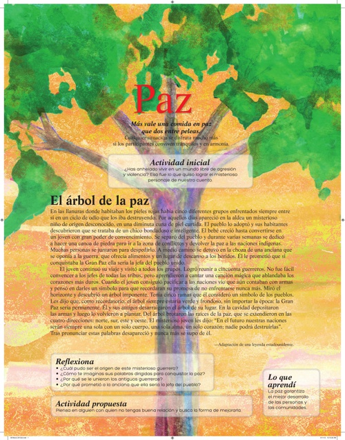 """Valor de Marzo """"Paz"""""""