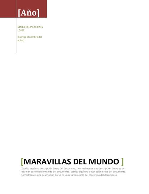 LAS MARAVILLAS DEL MUNDO- MPPL