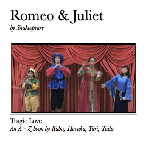 Romeo and Juliet A-Z Book